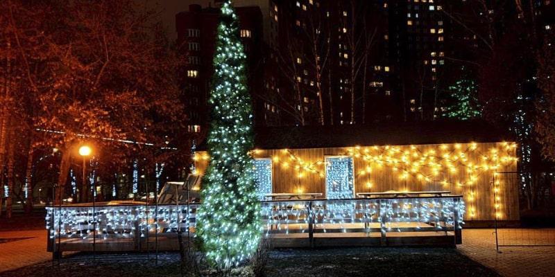 Новогоднее оформление парков и скверов