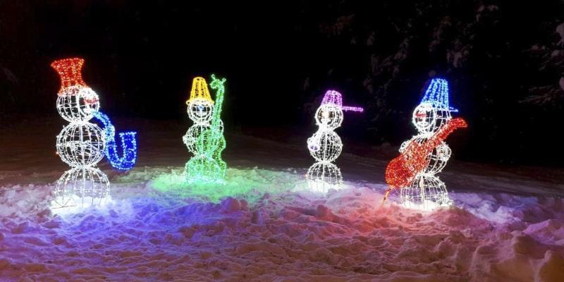 Купить новогодних световых фигур